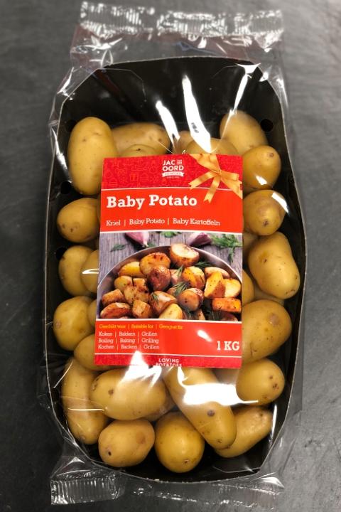 JvdO Potatoes - Feestdagen 2018 - Baby Potato 1kg flowpack verpakking