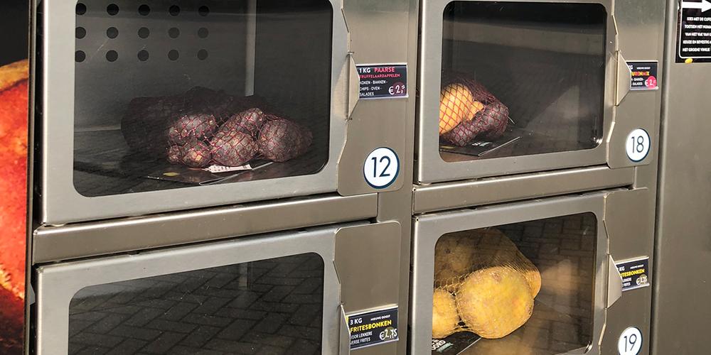 Aardappelautomaat bij Jac van den Oord Potatoes