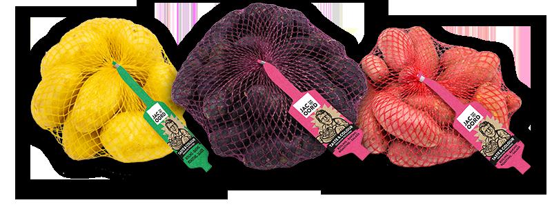 Taste & Colour Potatoes van Jac van den Oord in netzakjes (clipnetten) van 1 en 1,5kg