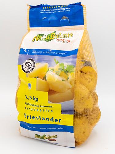 Kruimig kokende Natubalans Aardappelen van Jac van den Oord Potatoes in 2,5kg stazak (vertbag)